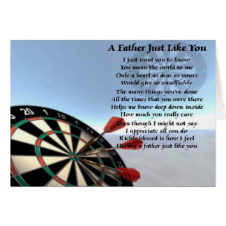 Darts Father Poem Greeting Card