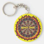 Darts Game Personalised Basic Round Button Key Ring