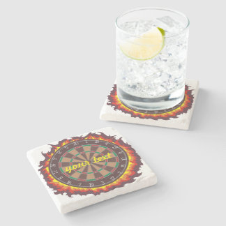 Darts Game Personalized Stone Coaster