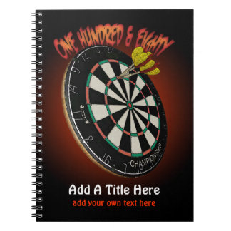 Darts Journal Spiral Note Book