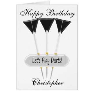 Darts Just Add Name Birthday Card