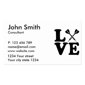 Darts love pack of standard business cards