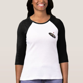Darts On Target, Ladies Raglan T-shirt