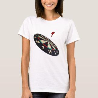 Darts On Target, Ladies White T-shirt