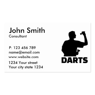 Darts Pack Of Standard Business Cards