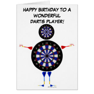 Darts Player Birthday Card