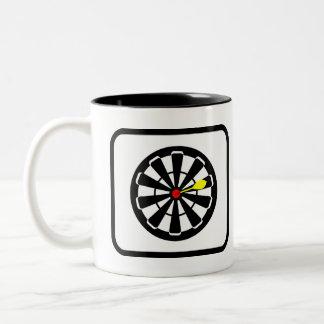 Darts Player Pro Two-Tone Coffee Mug