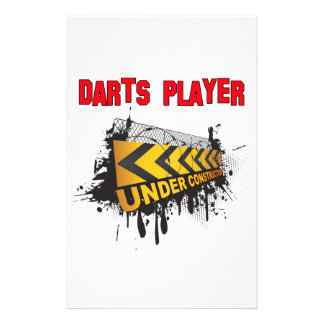 Darts Player Under Construction Customized Stationery