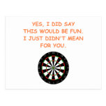 darts post cards