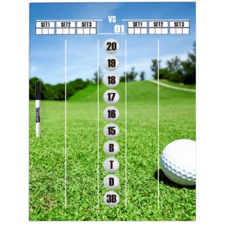 Darts Scoreboard For The Golfer Dry Erase Board