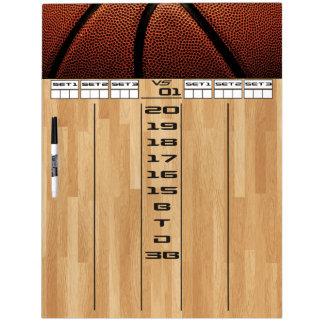 Darts Scoreboard With A Basketball Theme Dry Erase Board