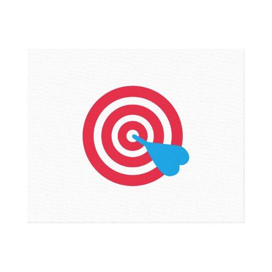 Darts target canvas print
