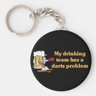 Darts Team Basic Round Button Key Ring