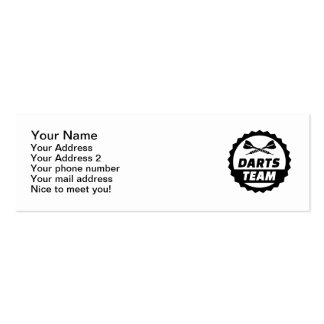 Darts team pack of skinny business cards