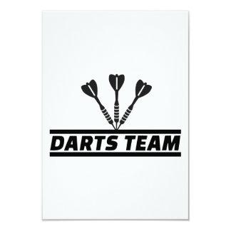 Darts team personalized invite
