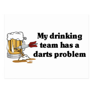 Darts Team Postcard