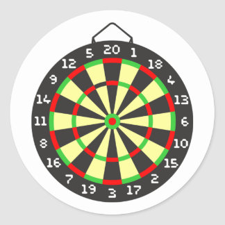 Dartscheibe dartboard runde sticker