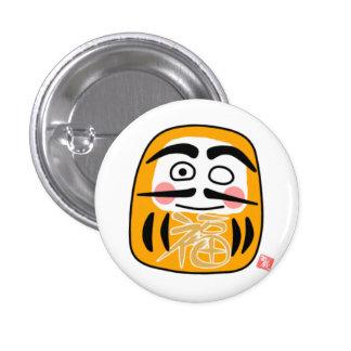 Daruma can badge (gold)