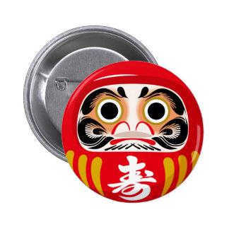 Daruma Doll 6 Cm Round Badge