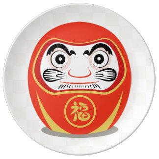 Daruma Doll Porcelain Plate