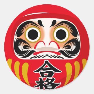 Daruma Doll Round Sticker