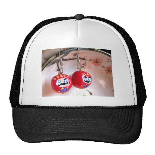 Daruma Earrings Hat
