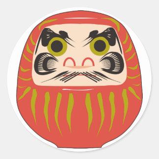 Daruma Round Sticker