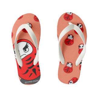 Daruma time time kid's flip flops