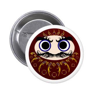 Daruma V 6 Cm Round Badge