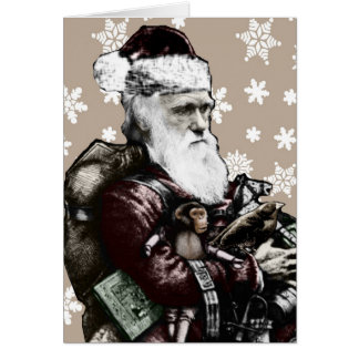 Darwin Atheist Christmas Card Color