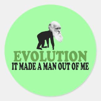 Darwin evolution round sticker