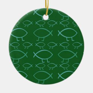 Darwin Fish Christmas Ornament