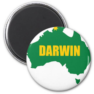 Darwin Green and Gold Map Refrigerator Magnets