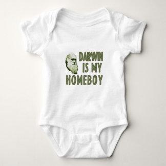 Darwin is my homeboy baby bodysuit