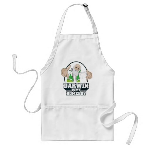 Darwin Is My Homeboy (Full Color) Apron