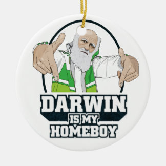 Darwin Is My Homeboy (Full Color) Christmas Ornament