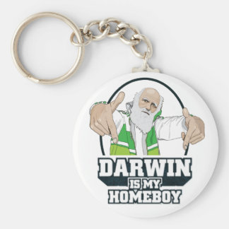 Darwin Is My Homeboy (Full Color) Key Ring