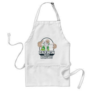 Darwin Is My Homeboy (Full Color) Standard Apron
