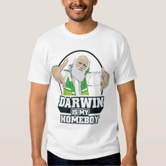 Darwin Is My Homeboy (Full Color) Tee Shirts