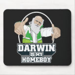 Darwin Is My Homeboy (Full Colour) Mouse Mat