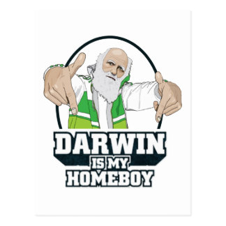 Darwin Is My Homeboy (Full Colour) Post Cards