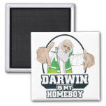 Darwin Is My Homeboy (Full Colour) Square Magnet