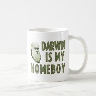 Darwin is my homeboy coffee mugs