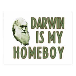 Darwin is my homeboy postcard