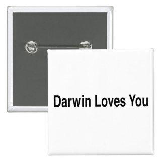 Darwin Loves You 15 Cm Square Badge