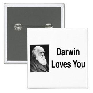 Darwin Loves You 2 15 Cm Square Badge