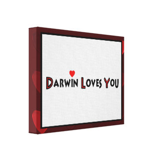 Darwin Loves You Stretched Canvas Prints