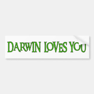 Darwin Loves You Car Bumper Sticker