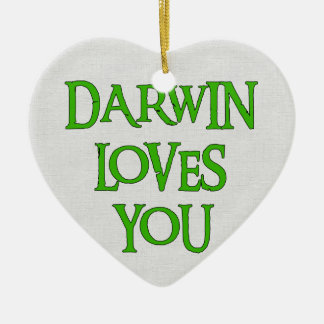 Darwin Loves You Christmas Ornament