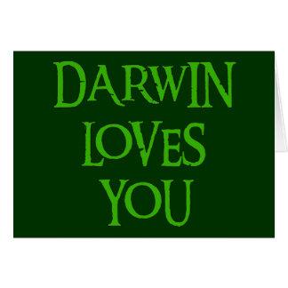 Darwin Loves You Greeting Card